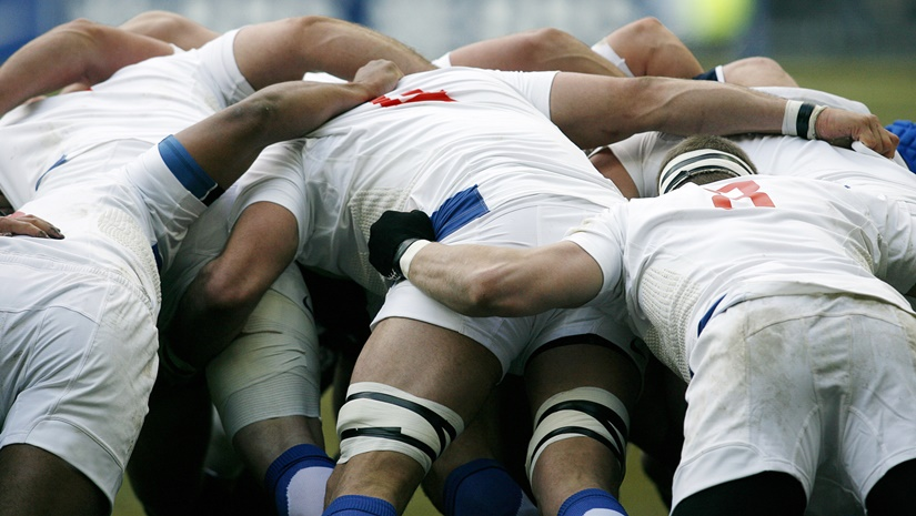 image of rugby scrum