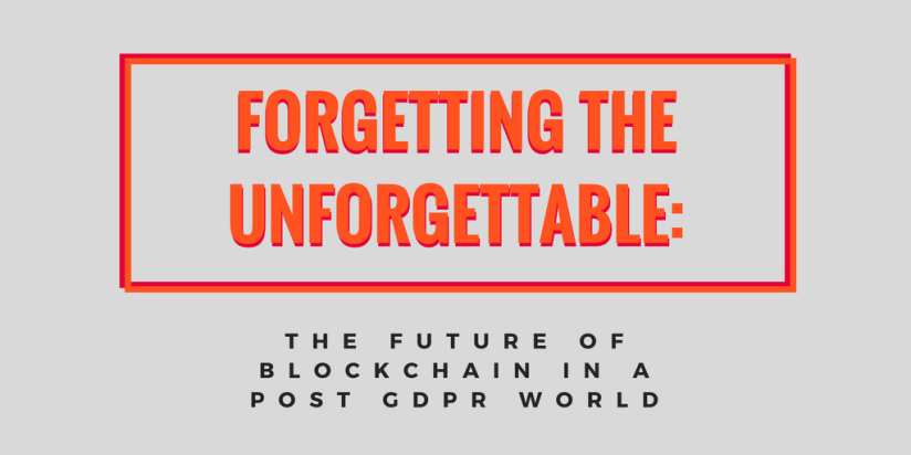 Blockchain in a post GDPR World