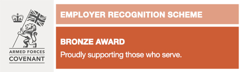 Corporate Covenant Employer Recognition Scheme Bronze Award – setting our course for excellence in Armed Forces community engagement
